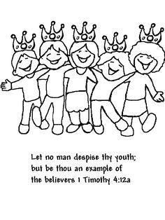1 Timothy 4 12 Coloring Page Google Search Sunday School Kids