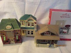 Set of 4 Nostalgic Houses & Shops 2011-2014 Hallmark Ornaments #28 #29 #30 #31