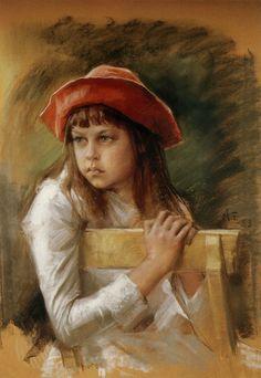 Albert Edelfelt (Finnish, 1854-1905). Portrait of Bertha Edelfelt