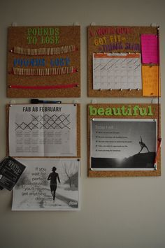 What a great fitness/weight loss vision board! Fitness Motivation Wall, Gewichtsverlust Motivation, Weight Loss Motivation, Weight Loss Tips, Fitness Tips, Lose Weight, Motivation Boards, Reduce Weight, Exercise Motivation