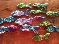 FISH : Free machine embroidery on felt