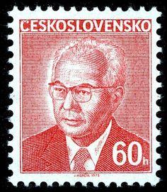 Stamp: Gustav Husák (1913-1991), president (Czechoslovakia) (President Gustav Husák) Mi:CS 2284x,Sn:CS 2036,Yt:CS 2135,Sg:CS 2246,AFA:CS 2129,POF:CS 2166 Postage Stamps, Presidents, Baseball Cards, World, Retro, Cover, Books, Movie Posters, Art