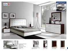 Shop for Luxurious Modern Bedroom Furniture Sets and Beautiful Contemporary Bedroom Furniture Sets in Boca. Furniture Design Modern, Bedroom Sets, Esf Furniture, Modern Bedroom Furniture, Luxurious Bedrooms, White Bedroom Set, Modern Bedroom Decor, Bedroom Dresser Sets, White Gloss Bedroom