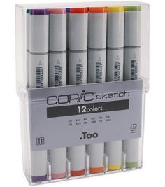 Copic Sketch Markers-12PK/Basic