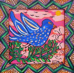 "Sarah Rakes ""Bluebird on a Branch"""