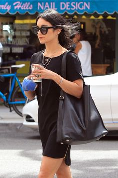 "vanessahudgensfashionstyle: ""  Vanessa Hudgens out in Beverly Hills (Aug. 25) """