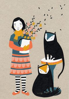amy blackwell scandi style screen print illustration