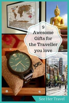 Everyone loves gifts, even us travellers! Here are 9 gift ideas for the traveller in your life, from travel gear, to memories, to ways to stay in touch! #travelgadgets