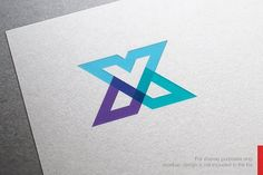 Color Letter X Logo by nospacestore on @creativemarket