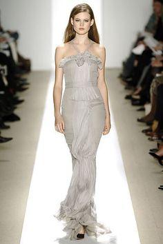 J. Mendel Fall 2006 Ready-to-Wear Fashion Show - Sasha Pivovarova