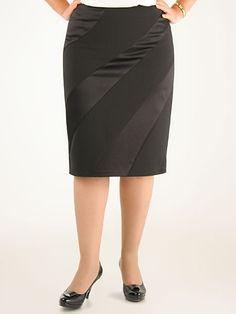saia preta com dois tecidos diferentes