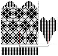 Knitted Mittens Pattern, Knit Mittens, Gloves, Knitting, Fair Isles, Patterns, Breien, Block Prints, Tricot