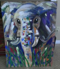 Abstract elephant Art Things, Art Work, Elephant, My Arts, Abstract, Drawings, Illustration, Painting, Fictional Characters