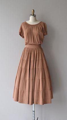 Dulce de Leche dress vintage 1940s silk dress by DearGolden