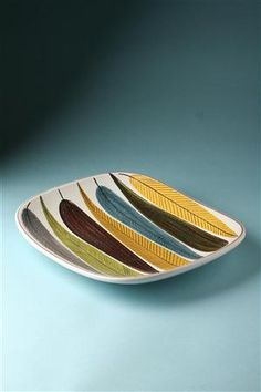 Dish, designed by Stig Lindberg for Gustavsberg
