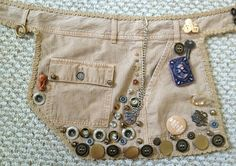 Gail Carriger makes a steampunk belt from old shorts.