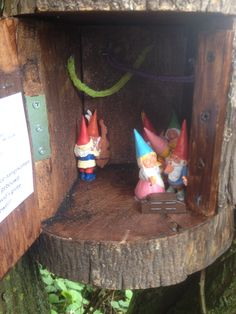 original pinner: David the Gnome cache! Found it after a nice walk along zevental gnome houses.