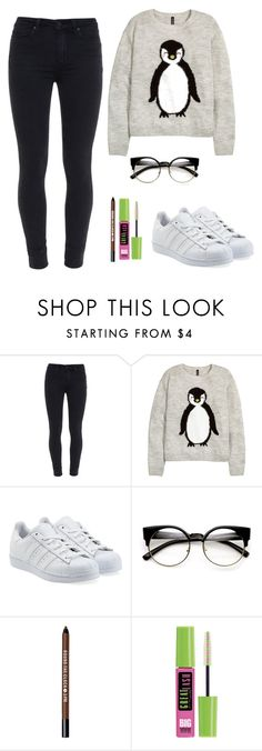 """CHRISTMAS"" by anna-z3 on Polyvore featuring Paige Denim, H&M, adidas Originals, Bare Escentuals and Maybelline"