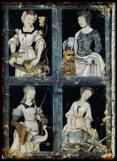 The Four Cardinal Virtues Prudence, Strength, Justice, Temperance, c.1500-1520