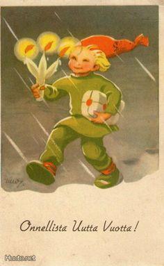 Christmas Gnome, Christmas Past, Vintage Christmas, Christmas Cards, Christmas Illustration, Children's Book Illustration, Yule Goat, Snow Maiden, Baumgarten