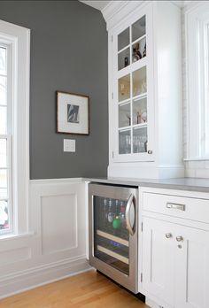 Benjamin Moore Paint Color:  Benjamin Moore Chelsea Gray HC 168 #BenjaminMoore #ChelseaGray HC 168