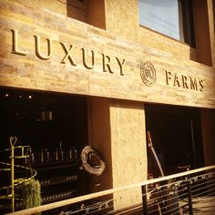 The birth of a farm. Luxury Farms™ new signage in Mission Hills, California.