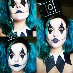 Image result for female harlequin makeup