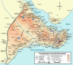 Mapa Constantinopla Bizantina