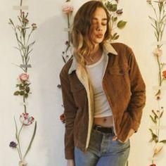 Brandy Melville Jackets & Coats - Elisha fur corduroy jacket Brandy Melville