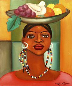 Haitian Girl with Dove