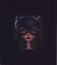 """A Portrait of Enid Coleslaw"" by Shannon Bonatakis    Ghost WorldAcrylic on canvas, 8x10 inches"