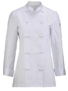 Chaquetas de cocina para mujer, confeccionadas en corte entallado en tejidos de poliéster y algodón. Personalizadas con bordados a gusto del cliente. http://www.grupotextil-bataspersonalizadas.net/chaquetas/49-chaqueta-de-cocina-para-mujer-20125.html