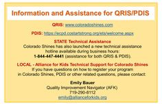 Information and Assistance for QRIS/PDIS