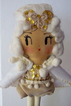 Winter Showgirl. One-of-a-kind handmade art doll