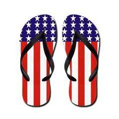 American Flag Flip Flops