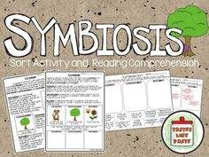 Looking for a great resource for your lesson on symbiotic relationships? I know our class had quite the time trying to decipher the difference between mutualism, commensalism, and parasitism!  We needed a hands-on activity and some on-level reading! $