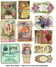 Victorian Vintage Perfume Labels Collage Sheet #102 Paper... https://www.amazon.com/dp/B00VKRFS2W/ref=cm_sw_r_pi_dp_x_Donqyb9JVAV68