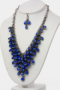 Crystal Drop Layered Necklace