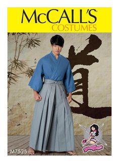 New McCalls Sewing Pattern 7525 Mens Kimono w Pleated Pants Martial Arts Costume  | eBay