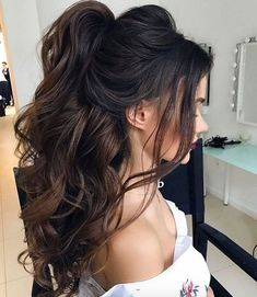 86 cool wedding hairstyles for the modern bride - Hairstyles Trends Sweet 16 Hairstyles, Bride Hairstyles, Trendy Hairstyles, Everyday Hairstyles, Party Hairstyles For Long Hair, Quince Hairstyles, Evening Hairstyles, Hairstyles Videos, Modern Haircuts