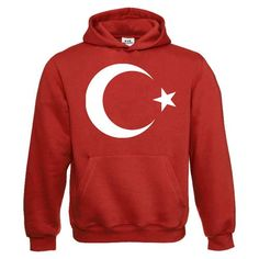 Kapuzensweatshirt - Türkei Mondstern - Textil white   Motiv rot XXXL  Amazon .de  Bekleidung 5647d7c940
