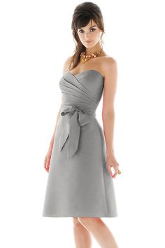 Shop Alfred Sung Bridesmaid Dress - D437 in Peau De Soie at Weddington Way. Find the perfect made-to-order bridesmaid dresses for your bridal party in your favorite color, style and fabric at Weddington Way.