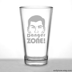 Hey, I found this really awesome Etsy listing at https://www.etsy.com/listing/163366343/archer-pint-glass-danger-zone