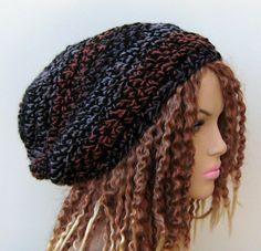 Spice slouchy beanie dread tam hat wool blend by PurpleSageDesignz