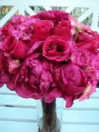 Fushia Peony wedding bouquet