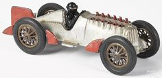 Large Hubley cast iron exhaust flame racer - Price Estimate: $700 - $900