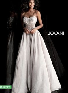 2bcf52f9e637c9 Jovani 67035 Sand prom ballgown featuring a crystal embellished strapless  corset bodice and sweetheart neckline