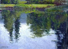 """Summer Reflections - Oil on canvas 9"""" x 12"""""""