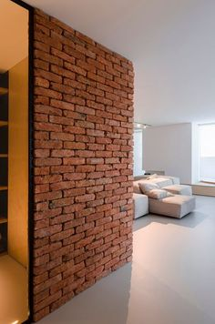 View the full picture gallery of Soft Loft Modern Loft Apartment, Apartment Design, Loft Design, Design Studio, Style Loft, Brick Texture, Neat And Tidy, Blog Deco, Architect Design
