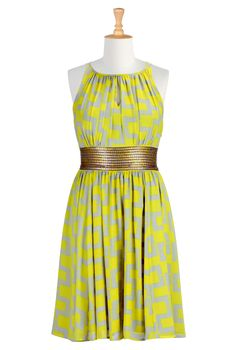 , Summer Party Dress| eShakti.com